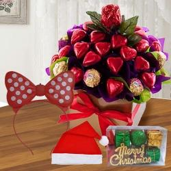 Marvelous Heart Shaped Handmade N Ferrero Rocher Chocos<br> to Aizwal