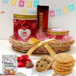 Wonderful Basket of Cookies N Chocolates to Adoni