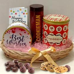 Delicious Cookies Tin for Birthday to Aligarh