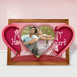 Mesmerizing Personalized Magnetic Heart Photo Frame to Akola