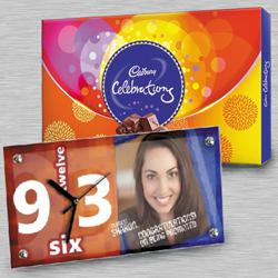 Remarkable Personalized Photo Table Clock n Cadbury Celebrations to Aleppy