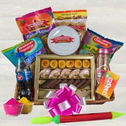 Delicious Sweets n Snacks Gift Hamper for Holi to Adilabad