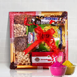 Delectable Dry Fruits n Assortments Fusion Gift Tray to Adilabad