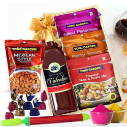Delicious Assorted Dry Fruits n Grape Drink Gift Hamper to Adugodi