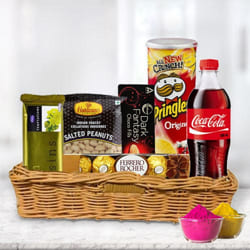 Delectable Snacks Gift Hamper for Holi to Allahabad