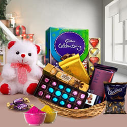 Mouth-Watering Chocos Gift Basket for Holi to Adoor