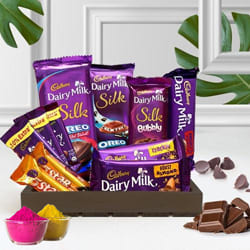 Ambrosial Chocos Gift Basket for Holi to Adilabad