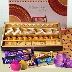 Delicious Sweets n Chocolates Gift Combo for Holi to Adoor