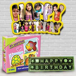Outstanding Personalized Kids Birthday Gift Combo to Ahmadnagar