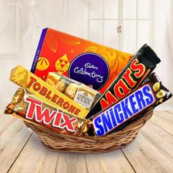 Tasty assorted chocolates gift hamper to Ghaziabad