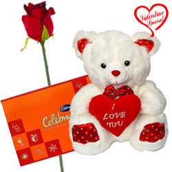 Cadburys Celebration Pack and A 12 inch Cute Teddy... to Alwar
