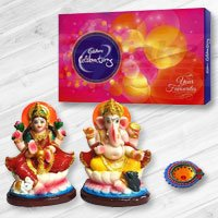 Ganesh Lakshmi with Cadbury�s Celebration to Belgaum