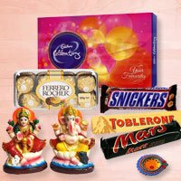 Special choco pack with deities to Belgaum