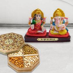 Ganesh Lakshmi with Dry Fruits to Delhi