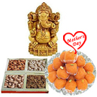 Auspicious Lord Ganesha with Tasty Sweets and Dry Fruits to Bulandsher