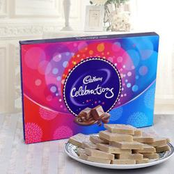 Share Happiness with Haldirams Kaju Katli and a Box of Cadburys Celebrations to Baraut