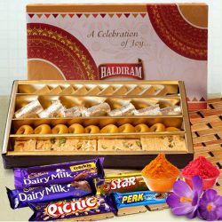 Treat the Best with Haldirams Assorted Sweets with Cadbury Celebration to Baharampur