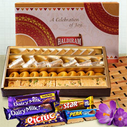 Delectable Assorted Sweets from Haldirams with Cadbury Chocolates to Alwar