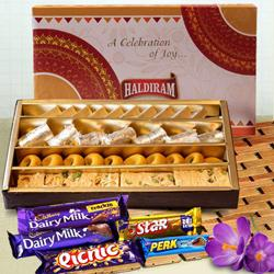 Treat the Best with Haldirams Assorted Sweets with Cadbury Celebration to Bareta