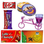 Charming Christmas Gift Assortment with Best Wishes to Gurgaon