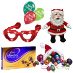 Handsome Arrangement of Christmas Gift Items to Ahmedabad