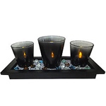 Exotic Christmas Candle Set with Epitome of Style to Guwahati