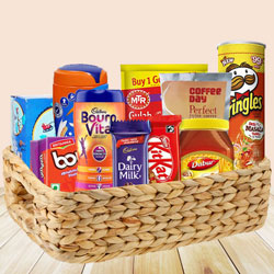 Exotic Food Basket Filled with Yummy Food Items to Batala