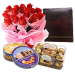 Gorgeous Arrangement of Delightful Gift Items with Nostalgia to Anugul