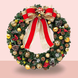 Adorning Christmas Wreath to Barnala