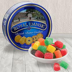 Irresistible Danish Cookies and Christmas Jelly Combo to Allahabad