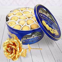 Crusty Christmas Cookies and Gold Rose Duple to Berhampur