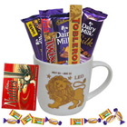 Extraordinary Leo Astrological Sign Printed Mug with Chocolate to Balrampur