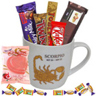 Extraordinary Scorpio Astrological Sign Printed Mug with Chocolate to Barzulla