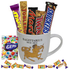 Extraordinary Sagittarius Astrological Sign Printed Mug with Chocolate to Barh