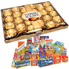 Crackling Gift of 24 Pc. Ferrero Rocher Chocolates Box N Fire Crackers to Belgaum