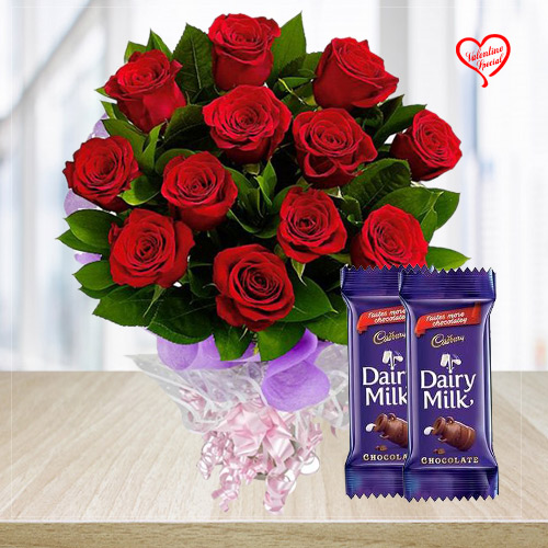 Lovely and Delightful Rose Assortment with Dairy M... to Bolpur