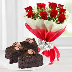 Gorgeous Roses and Chocolate to Berhampur