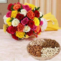 Bouquet and dry fruits for all lovely mom to Chennai