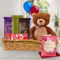 Attractive Gift Basket of Birthday Gifts N Chocolates to Bhiwani