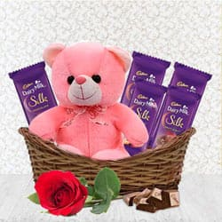 Wonderful Gift Basket of Assortments N Teddy to Aligarh