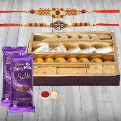 Assorted Sweets with Cadburys Chocolates n Rakhi to Ankleshwar