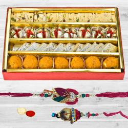 Bhaiya Bhabhi Rakhi with Assorted Sweets to Bhiwadi