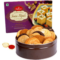 Gift of Cookies N Haldirams Soan Papdi to Aligarh
