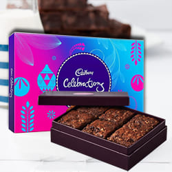 Tasty Brownies with Cadbury Celebrations to Allahabad