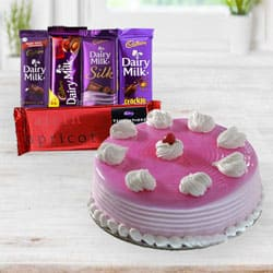 Delicious Birthday Cake nd Chocolates to Bolpur