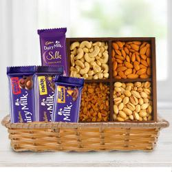 Crunchy Dry Fruits with Assorted Cadbury Chocolates to Alwar