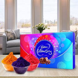Special Herbal Gulal with Cadbury Chocolates to Bellary