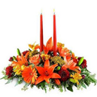 Gorgeous Flowers arrangement and 2  Candles  to Bellary
