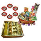 Assorted Sweets, Crackers and Wax Diya to Raipur