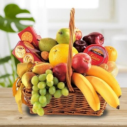 A food basket with fruit delicacy to Bhusawal